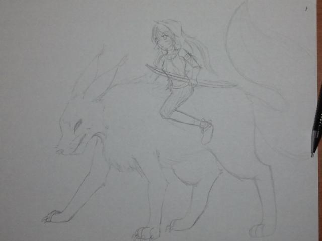 Wolf Rider :Original Draft: by EverSnow