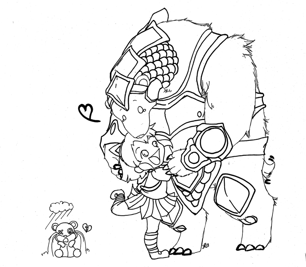 LOL : Annie x Volibear (Poor Mr.Tibbers!) by EverSnow