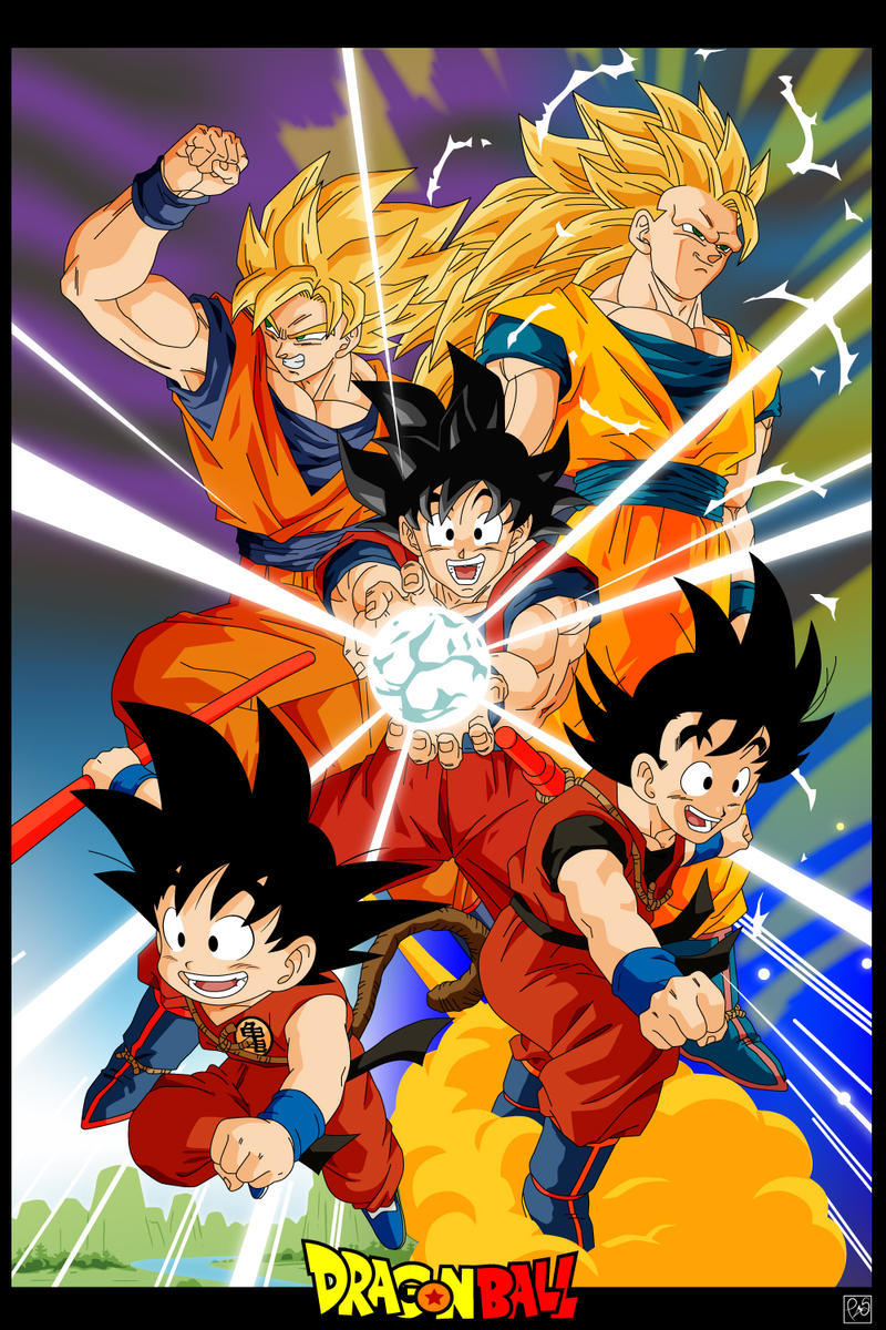 Dragon Ball - Todas las tranformaciones de goku.