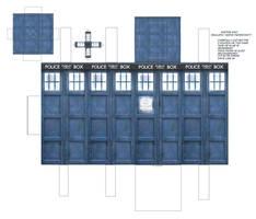 Doctor Who Tardis Papercraft by Jailboticus