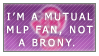 Mutual MLP Fan Stamp  by Jailboticus