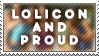 Lolicon and Proud Stamp by Jailboticus
