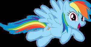VECTOR - Happy Rainbow Dash