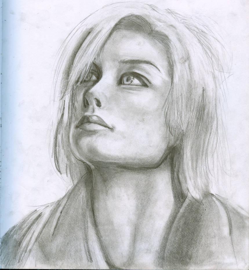 Human pencil sketch by cheetahpelt