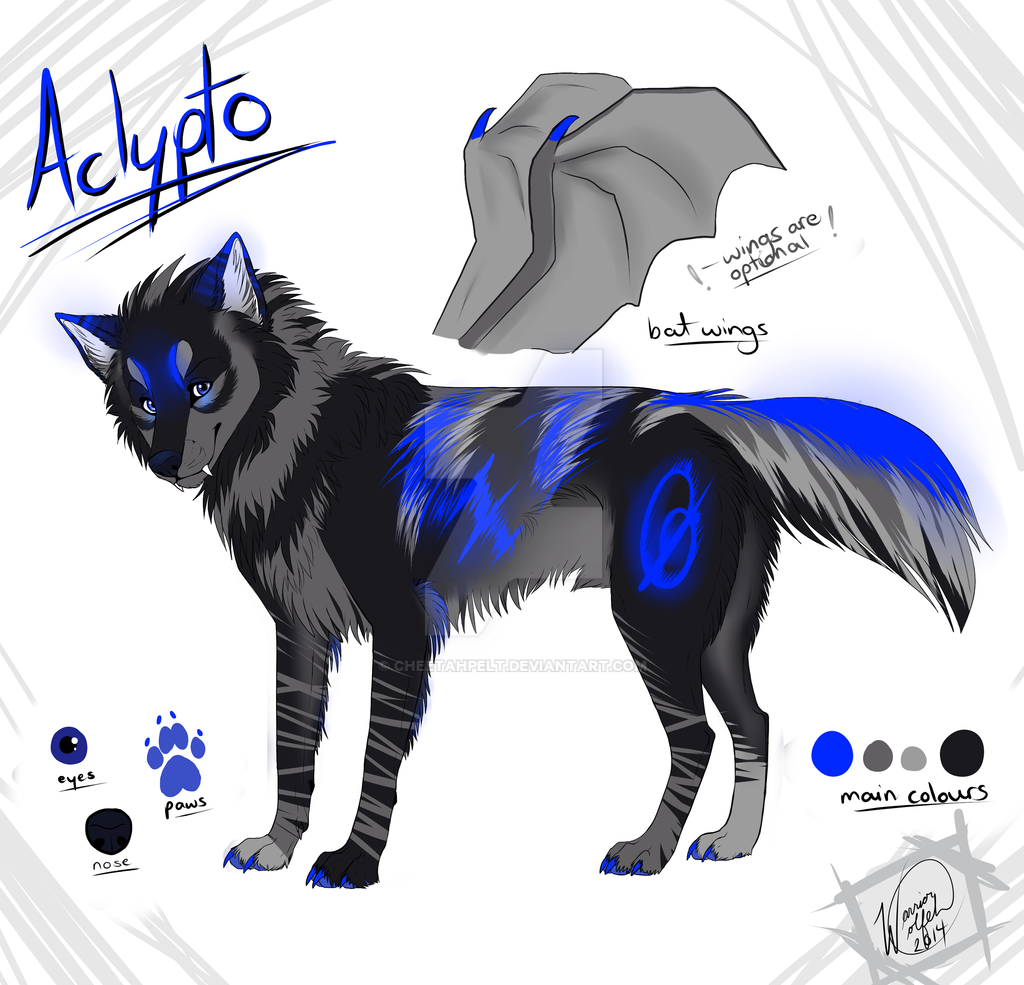 Aclypto Wolf OC By Cheetahpelt On DeviantArt