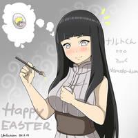 Naruto - Hinata - Happy Easter Fanart by Umicchan