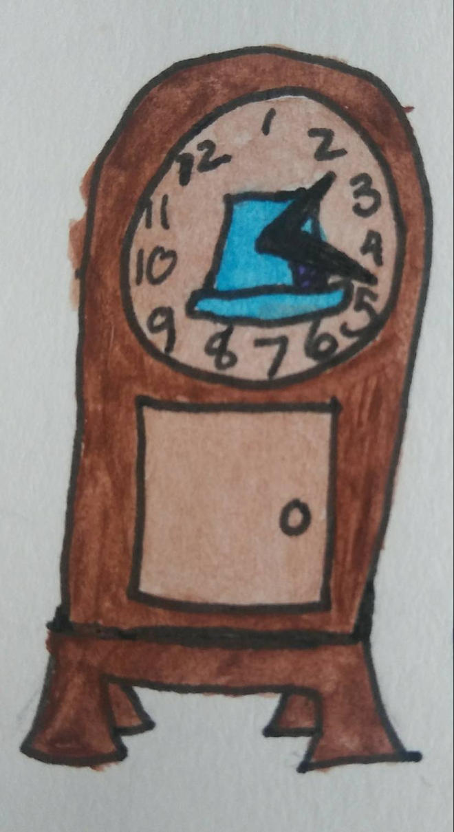 Hatter's clock  by BellsofArt