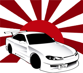 Nissan Silvia Illustration by Rooonin