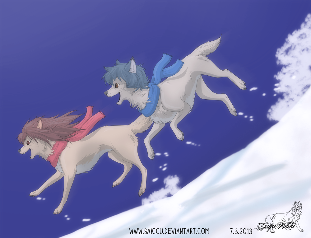 Ame and Yuki by Saiccu