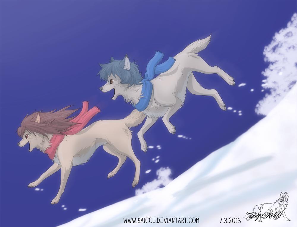 Ame and Yuki by Saiccu