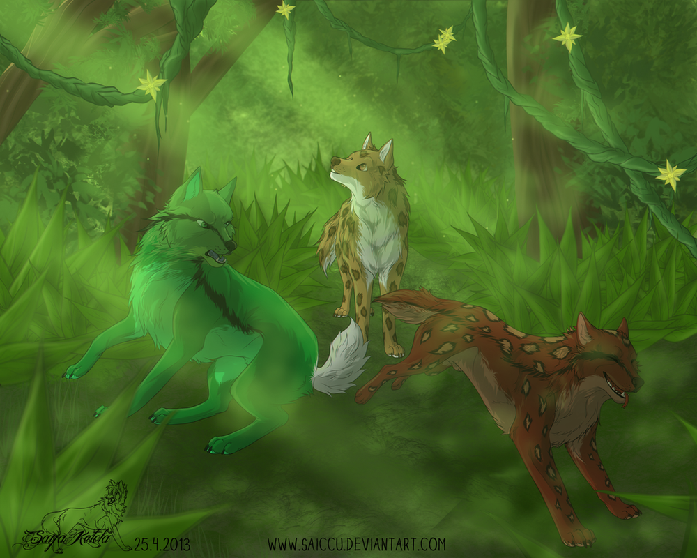 Three adventurers by Saiccu