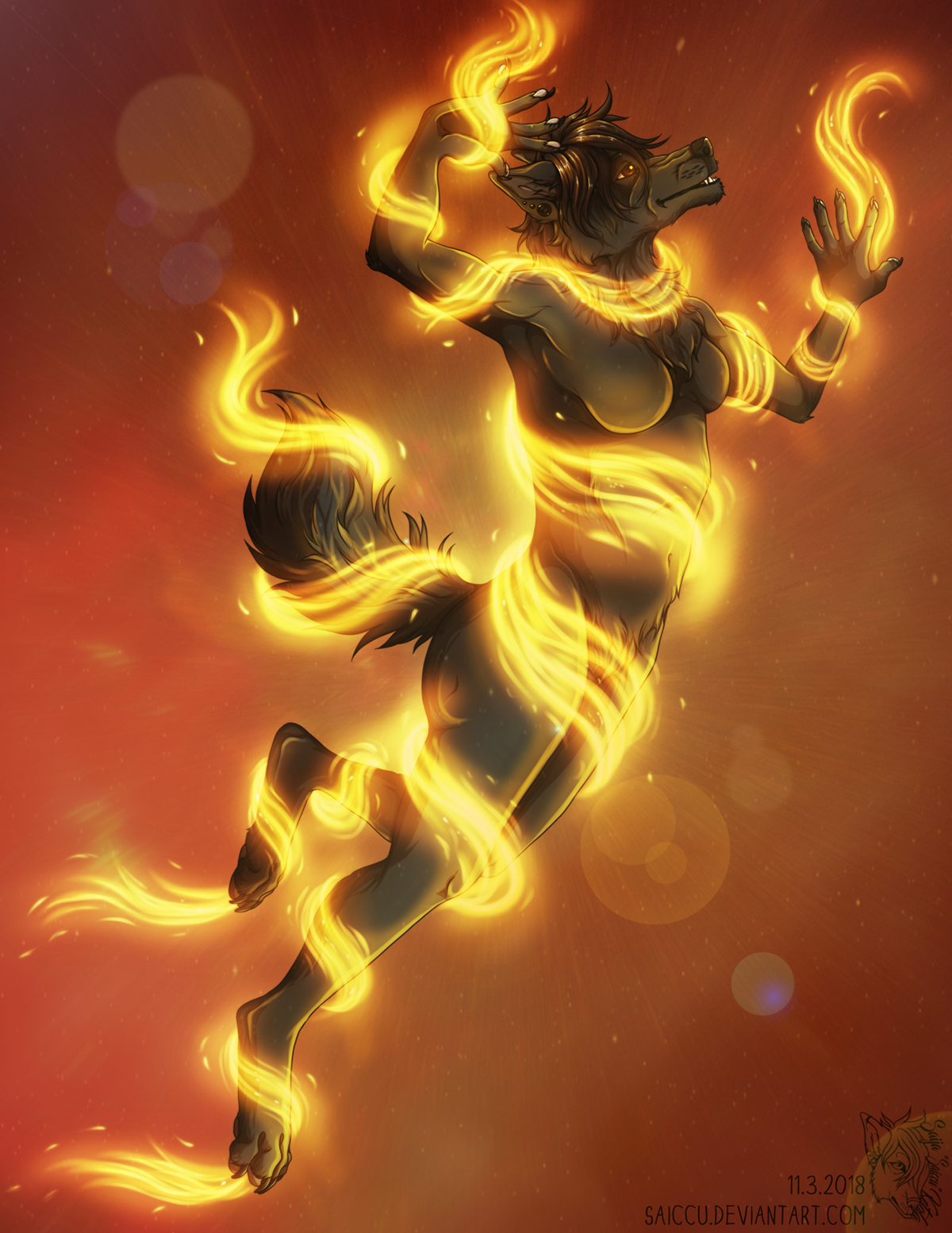 Dancing with fire by Saiccu