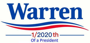 Warren for 1/2020th of a President