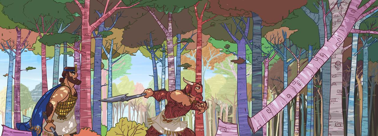 Gilgamesh and Enkidu by Pablo-M