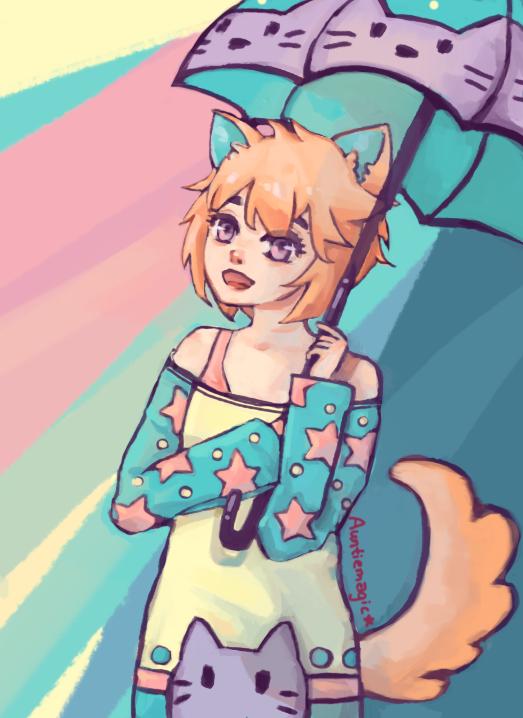 Sunshine and rain by auntiemagic