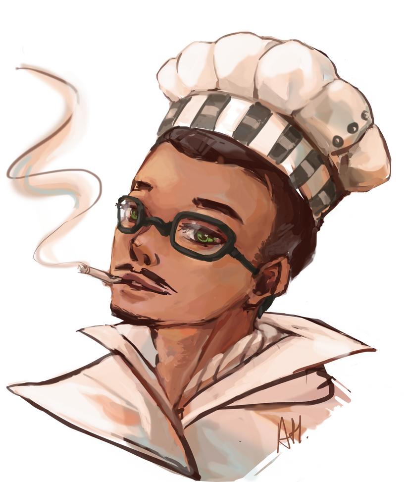 Da Mustache Chef by auntiemagic