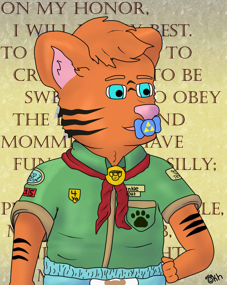Crinkle Scout - Brian Tiger by wiimaster306