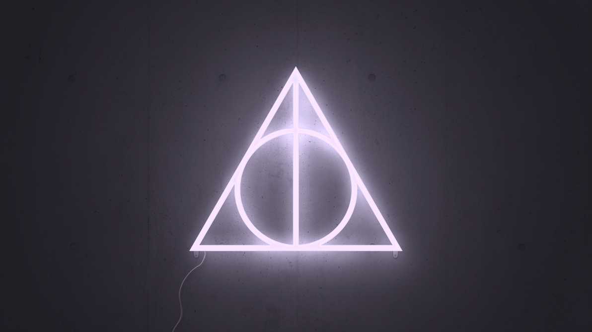deathly hallows neon wallpaper (1366x768)karin333 on deviantart