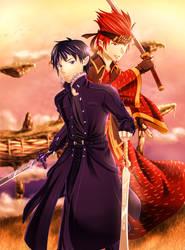 Sword Art Online - Kirito and Klein by ZephX
