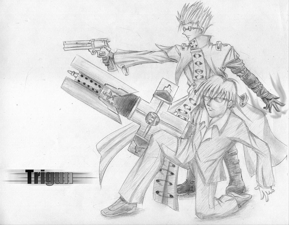 trigun coloring pages | Request:.Trigun by ZephX on DeviantArt