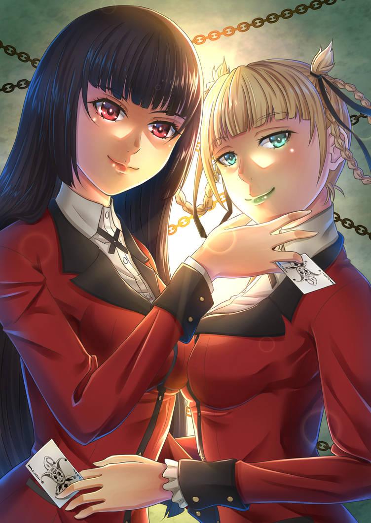 Jabami and Momobami by ZephX