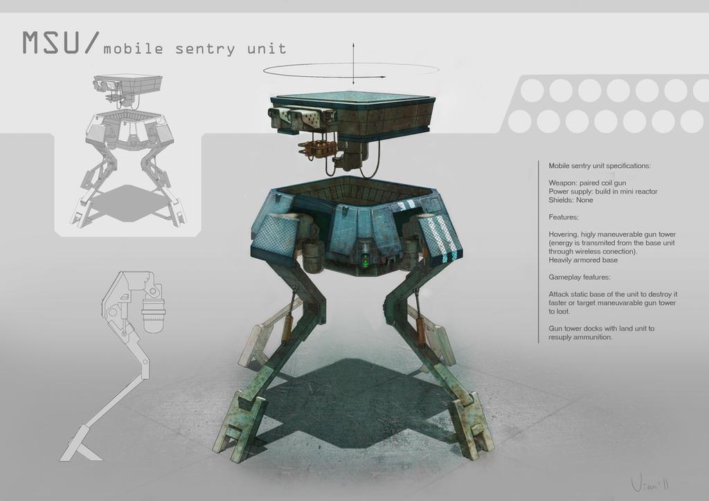 mobile sentry unit by vianreps