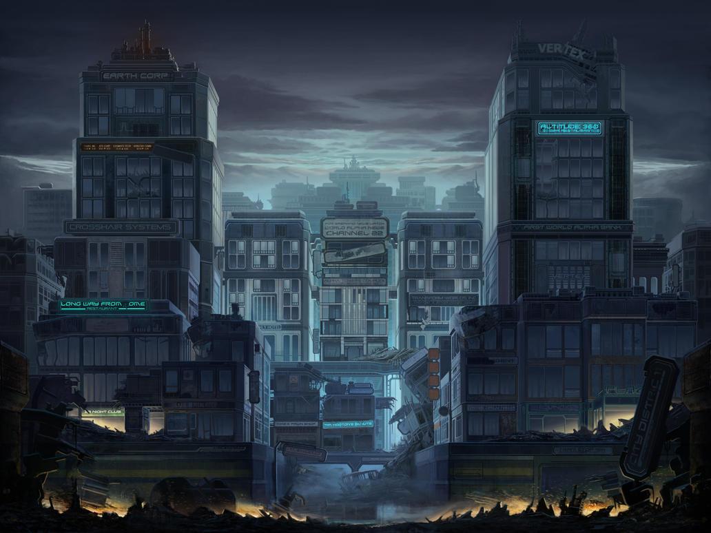 Concept 2D artis...2d City Background