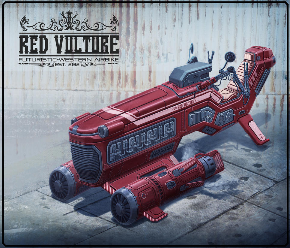 airbike_red_vulture by vianreps