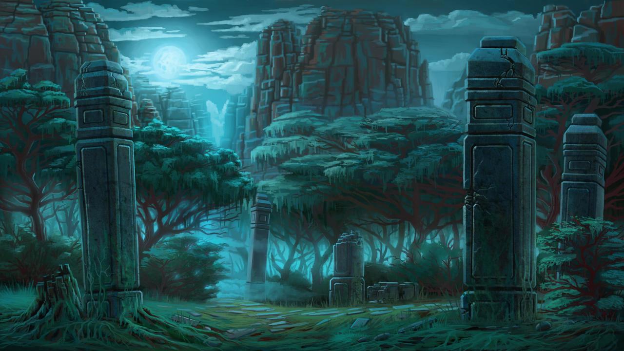 Forest Night by vianreps