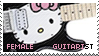 Female Guitarist Stamp by Roxymmadog