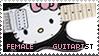 Female Guitarist Stamp by Roxymmadog