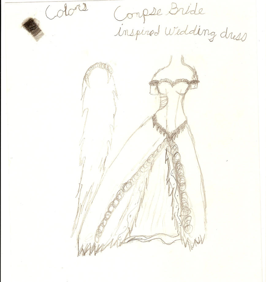 Wedding Dress: Corpse Bride Inspired, rough draft by Amaya1994 on ...