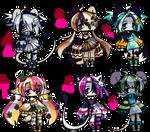 Set of cute furries #8 [OPEN] by TaigoKatsuki