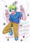 Happy Birthday PepperLizard by Kaiyaru