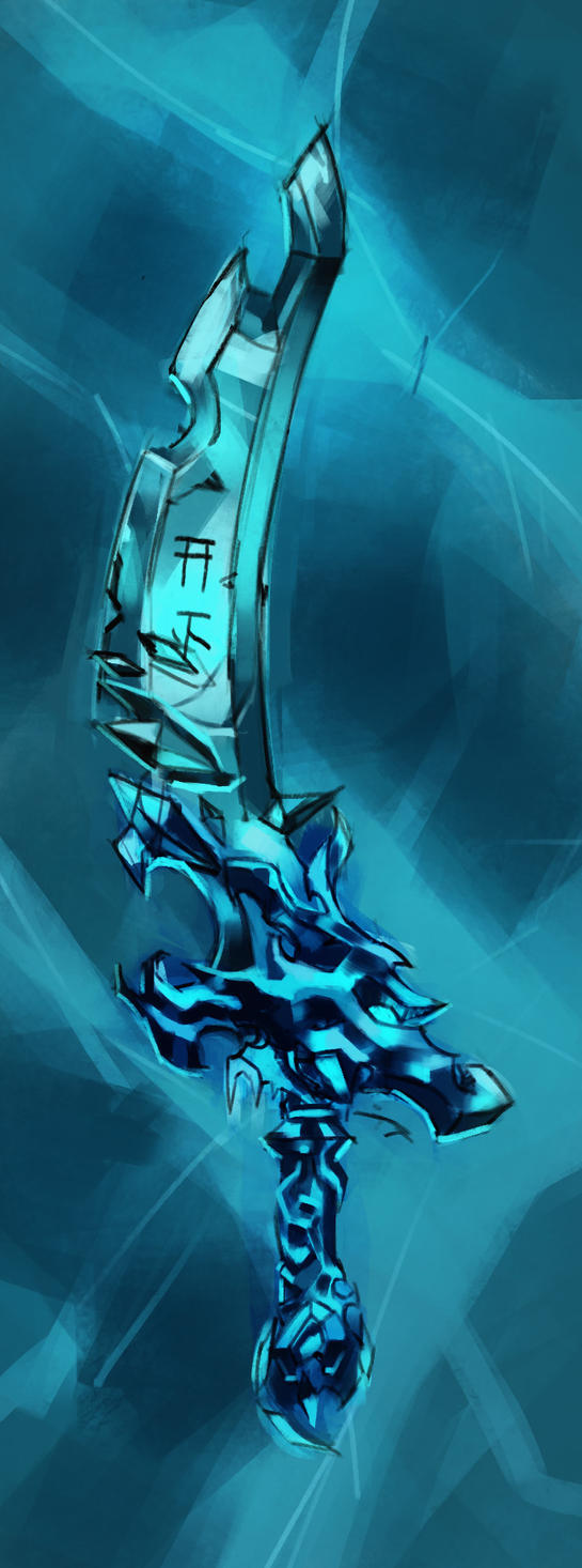 Ice Sword - Concept Art by Carlos-Way