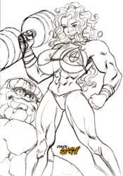 Commissioned She-Hulk Rough by ChuckSmash