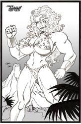 Savage Land She-Hulk by ChuckSmash
