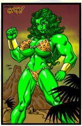 Savage Land She-Hulk in color by ChuckSmash