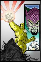 Iron Man Color by ChuckSmash