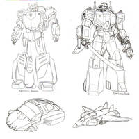 Cybertronian Beamer and Blade by beamer
