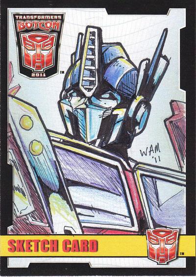 Sketch Card: Optimus Prime by beamer