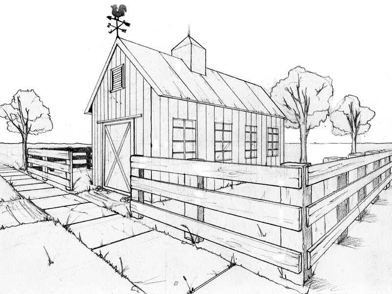 Two point perspective exercise by beamer on deviantart for Exterior 2 point perspective