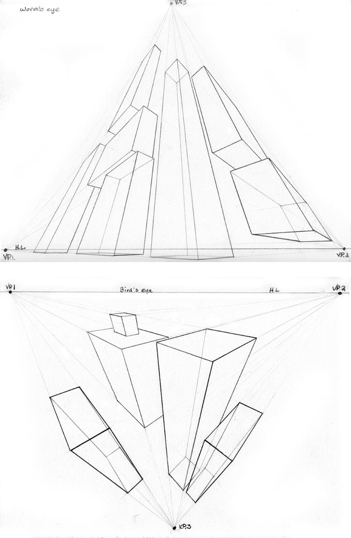 3 point perspective exercise by beamer