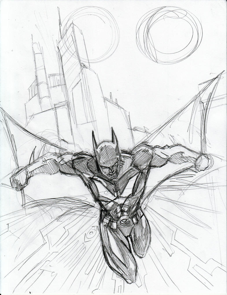 Batman Beyond Sketch By Beamer On DeviantArt