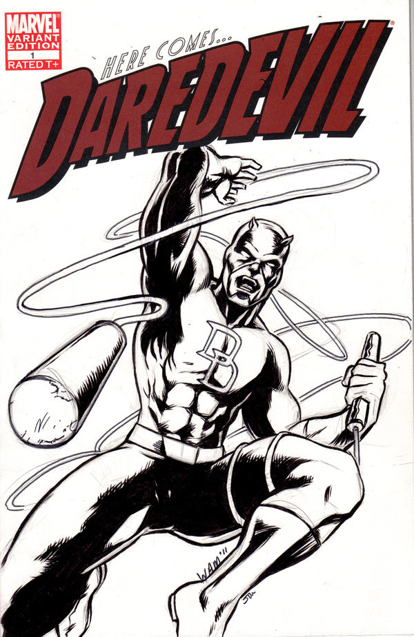 Daredevil Cover sketch by beamer