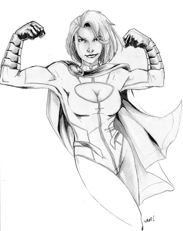 Powergirl Sketch by beamer