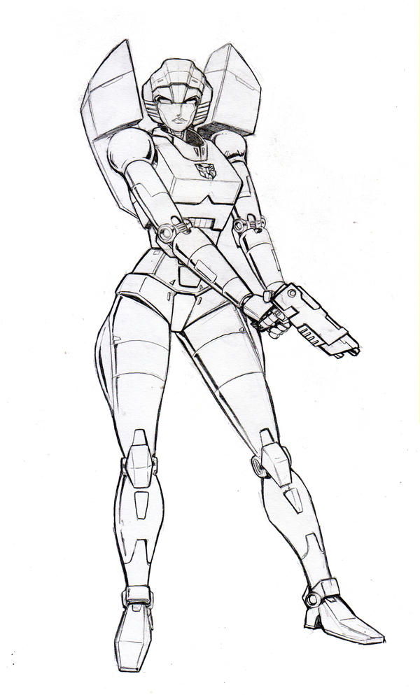 Botcon Arcee Card art by beamer