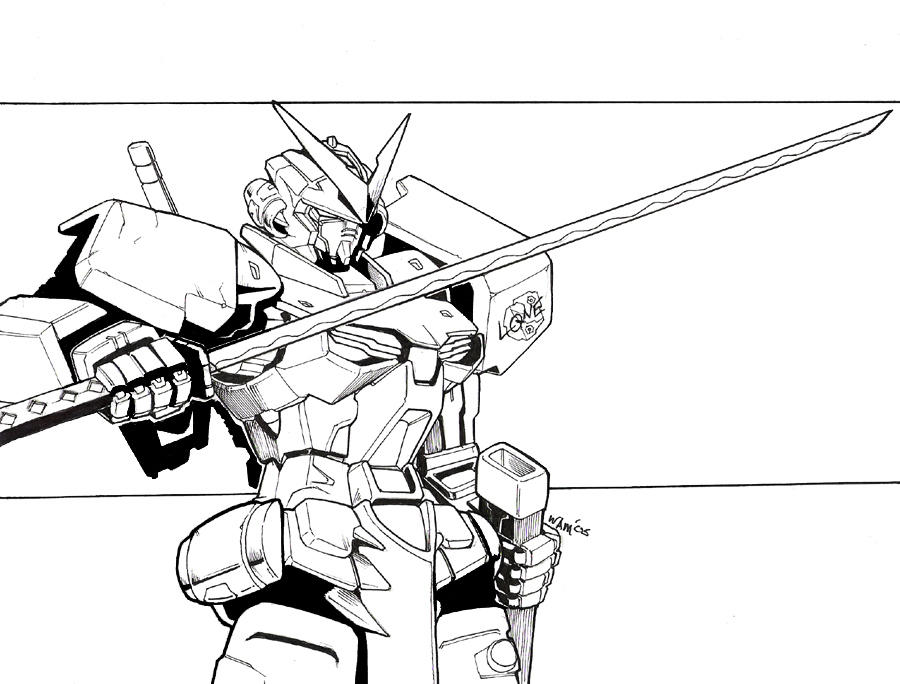 Mobile suit coloring pages for Gundam wing coloring pages