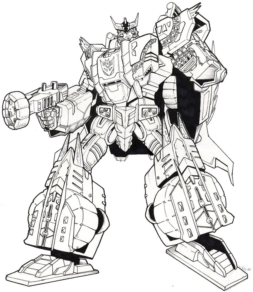 transformers coloring pages megatron youtuf com