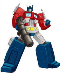 cartoon optimus prime by WillMangin